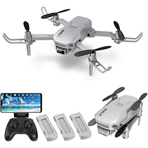 ZHCJH Drone RC con cámara 4K HD,Mini DroneWiFipara niños, Quadcopter RC con Volteretas 3D, Vuelo de trayectoria, Modo sin Cabeza, Mantener la altitud, Despegue/Aterrizaje con una tecla, 3 baterías
