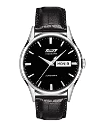 Tissot mens Visodate Stainless Steel Dress Watch Black T0194301605101