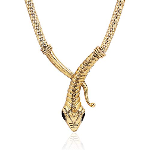 XtraElegant Choker mit Zikonia Halsreif Collier Schlange Statemen Halskette Damen Silber Gold (Gold)