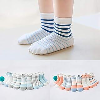 BEESCLOVER 5 Pairs/Dozen Autumn Winter Children Combed Cotton Sports Socks Chind Kids Girls Boys Children Socks for 0-12 Years Old