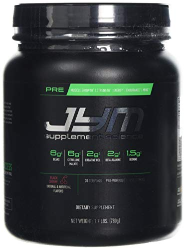 JYM Supplement Science Pre Black Cherry Supplement, Pack of 30