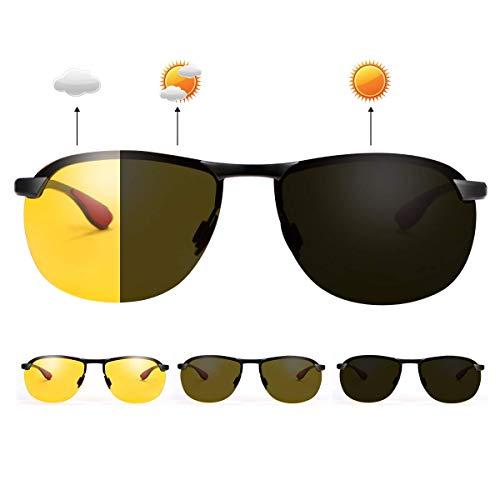 Gafas de sol polarizadas fotocromáticas para deportes al aire libre para hombres y mujeres, protección UV400 para conducción diurna y nocturna, ciclismo, esquí, golf, correr, ciclismo, pesca