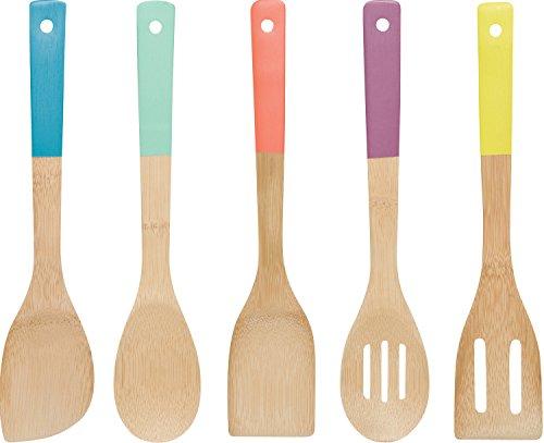 Now Designs Utensílios de bambu, conjunto de 5, multicolorido