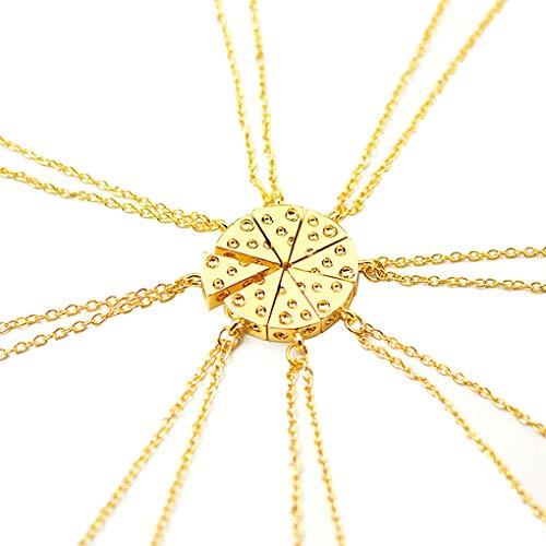 Jinghengrong Regalo de la joyería Collar de la Amistad Collar de Queso única Pizza de Cadena Pendiente