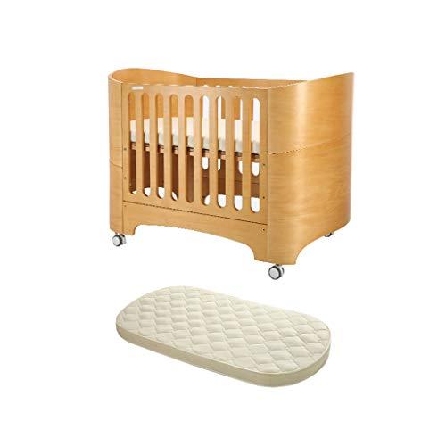Houten Baby-bed met matras Europese wieg van de baby stijl bed Pasgeboren Multifunctionele Classic Children's Bed Convertible Aan 3 posities van de peuter bed Om jonger dan 6 jaar Slaapbank