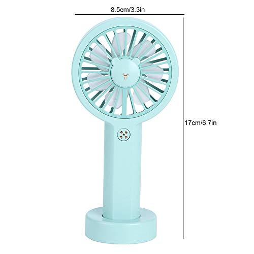 KAKAKE Ventilador de Mano, Ventilador Personal, Carga USB silenciosa para Oficina, Dormitorio, hogar, Biblioteca