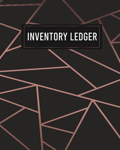 Inventory Ledger: Rosy Gold Design Inventory Organizer for Small Business - Manage and Track your Business Stock and Supplies -