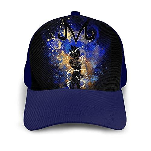 XCMG Printed Men Women Vegeta Baseball Cap Adjustable Dad Hat for Outdoor Sport Activities Navy