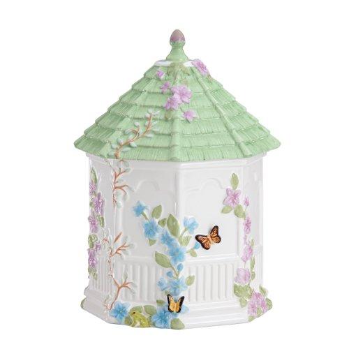 Lenox Butterfly Meadow Figural Gazebo Cookie Jar 10-Inch White