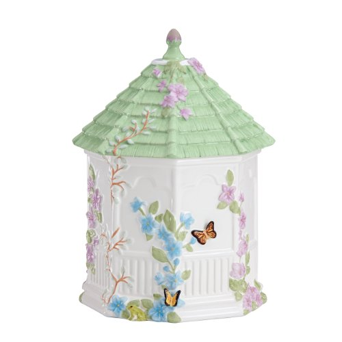 Our #5 Pick is the Lenox 827665 Butterfly Meadow Figural Gazebo Cookie Jar