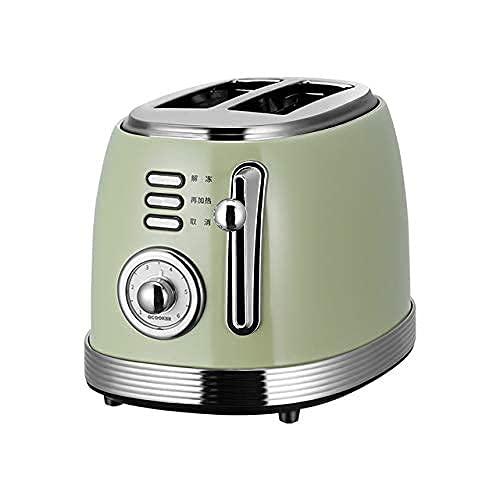 Tostadora 2 Rebanada, Máquina de desayuno multifuncional para el hogar, Máquina de sándwich de tostadas automáticas, Tipo de cajón Bandeja de migajas, Slots adicionales Tostadora 9 Ajustes de Browning