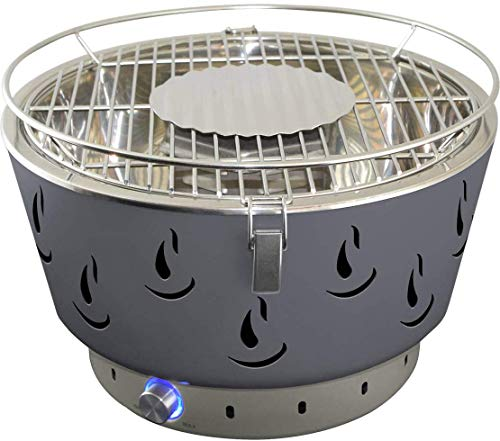 ACTIVA Grill Tischgrill AIRBROIL JUNIOR Grau, Holzkohlegrill