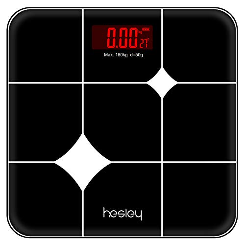 Hesley Weighing Machine for home/ Weighing Scale with advanced Step on Technology HSB-1 (BLACK)