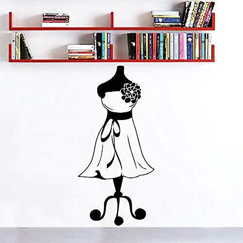 Schaufensterpuppe Schneider Mode Kleid Mädchen Wandaufkleber Schneider Shop Tuch Stand Dekoration 57 * 21 cm