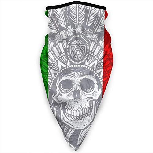 Tribal Skull Italy Flag Hombres Mujeres Bandanas,Bufanda Multifuncional,Paño De Manguera,Magic Diadema,Diademas para Exteriores