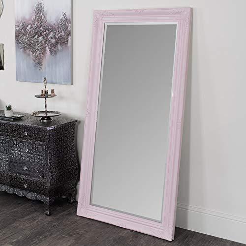 Melody Maison - Specchio da parete/pavimento, 158 x 78 cm, colore: Rosa