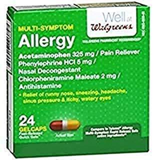 Walgreens Allergy Multi-Symptom Fast Release Quick Gels, 24 ea