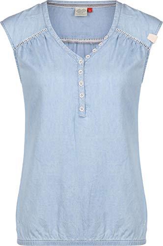 Ragwear Bluse Damen Salty Denim 2011-10015 Blau Blue 2040, Größe:S