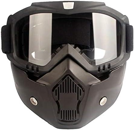 Máscara de Snowboard de esquí Moto de Nieve Skiing Gafas a Prueba de Viento Motocross Casco Gafas Protectoras Eyewear con Filtro de Boca (Color : A4 Clean)