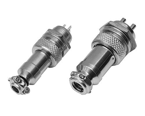Einbaustecker Steckverbindung Borddurchführung Steckdose Mikrofon Kupplung (Einbaumaß: 16mm, 6 Pins)