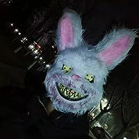 ハロウィーン ヘッドギア 怖い 血まみれのウサギのマスク 長い髪の幽霊 飾られた血まみれの女性のゴーストマスク 医者と看護師は怖くて怖い小道具