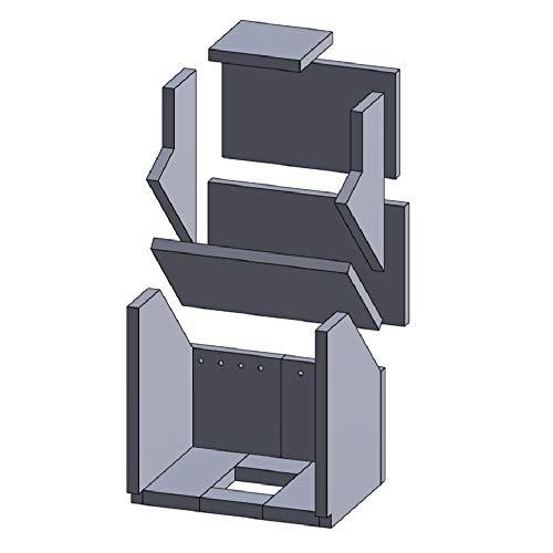 Flamado Feuerraumauskleidung Komplettset 14-teilig passend für Justus Kamin Ersatzteile Kaminofen Brennraumauskleidung Vermiculite 1.150°C