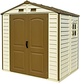 Duramax 8x6 StoreAll Vinyl Storage Shed with Foundation