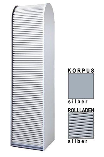 Klenk Dancer Collection - Hochschrank - Korpus: Silber/Rollladen: Silber