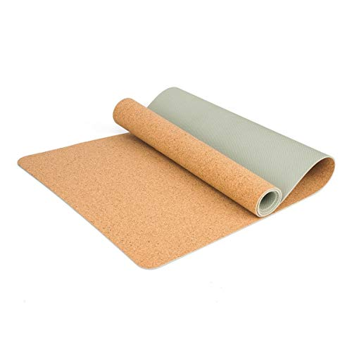 PARTAS Zweite Generation Klassische Yoga-Matte Eco Friendly Cork Yoga-Matte mit Naturkautschuk-Bottom, Roots Eco Friendly Yoga-Matte (Color : 3)
