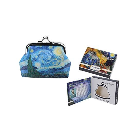 Carmani – Kleine Damen-Münzbörse mit Vincent Van Gogh, Sternennacht