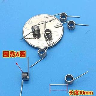 Jienie Wire Dia 0.5mm OD 4.5mm Springs Miniature Torsion Spring 5pcs - (Length: 0.5x4.5x10mm)