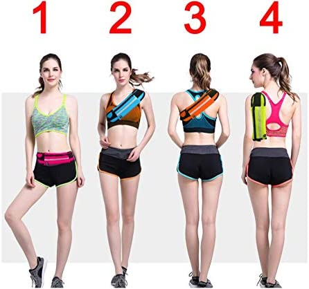 Headphone Hole Keys and Cash GEBRAUX Small Waist Running Belt with Velcro and Zipper Pocket for Phone Reflective Sport Bum Bag Fanny Pack Adjustable 25-38 Inch Strap Waterproof