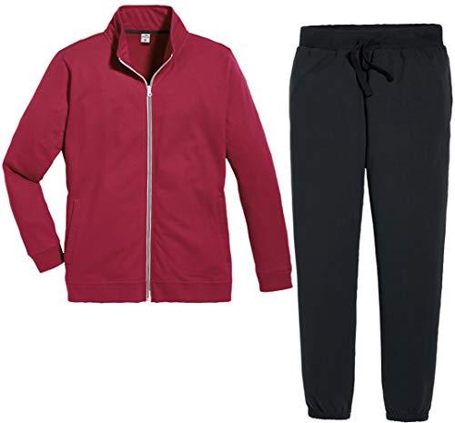 Active Touch® Damen Jogginganzug Trainingsanzug, 2-teilig (rot schwarz, Gr. XL 48/50)