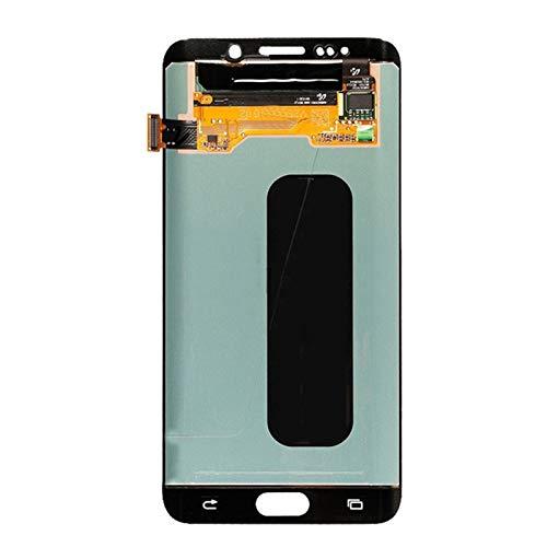 Pantallas LCD para teléfonos móviles LCD con Marco Original Super AMOLED/FIT para Samsung Galaxy S6 Edge Plus G928F Pantalla táctil (Color : White No Frame)