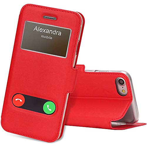 FYY Handytasche iPhone 7 / iPhone SE Hülle 2020,PU-Leder Schutzhülle mit Standfunktion & Magnetisch,Klapphülle für Apple iPhone 7 Hüllen/iPhone 8 Cover/iPhone se Handhülle 4,7 Zoll -Rot