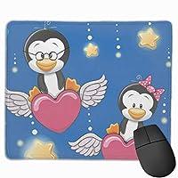 クールかわいい恋人ペンギン マウスパッド ノンスリップ 防水 高級感 習慣 パターン印刷 ゲーミング ホビー 事務 おしゃれ 学習