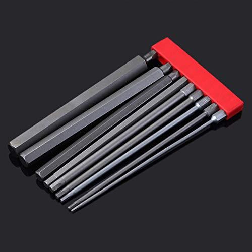 XIAN Juego de puntas de destornillador eléctrico de cabeza hexagonal de aleación de acero S2