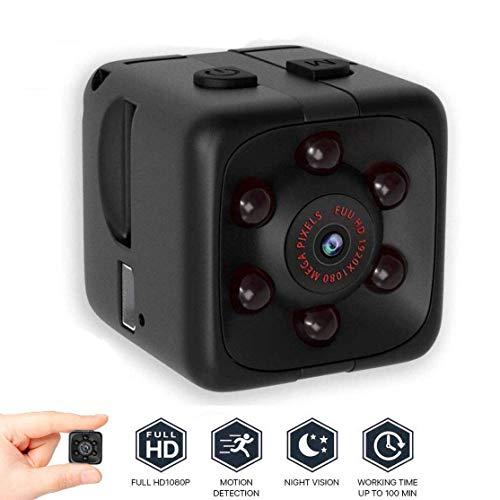 Mini Kamera,Full HD 1080P Tragbare Kleine Überwachungskamera,Mikro Cam mit Nachtsichtgerät für Indoor Outdoor Security Minikamera