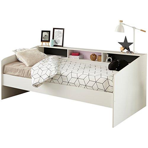 Parisot 2338l290Sleep Bett Spanplatte Weiß 203x 112x 81cm