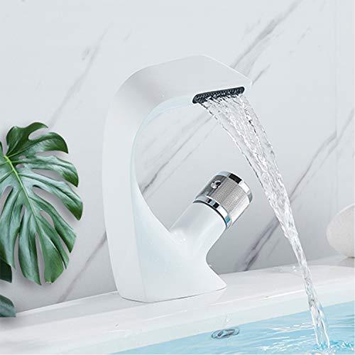 rozin lavabo grifo cromo acabado cascada curvada Diseño caño grifo fría & caliente Licuadora grifo