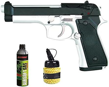 Pistola Y&P G104BC M-92F Gas (6mm) | Arma de Airsoft Calibre 6mm Tipo Beretta semiautomática
