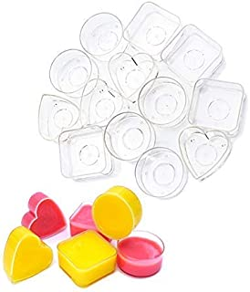 30PCS Clear Plastic Tealight Cup DGQ Heat-Resistant Tea Light Holders Containers for Anniversary Votive Candle DIY Mold Tool