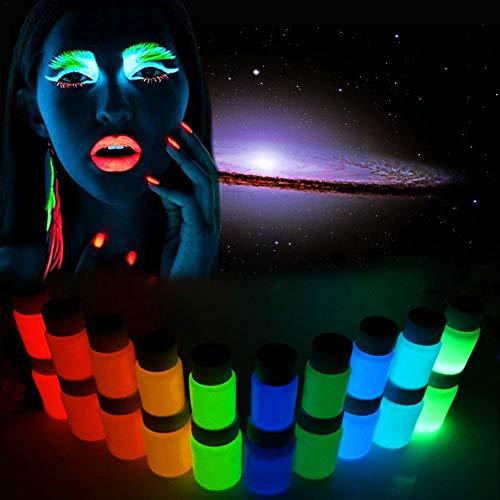 Seasaleshop UV-Licht Bodypainting Schminke Bodypainting  Schwarzlicht-Körperfarbe für Body und Facepainting   Fluoreszierende Farben im Schminkset für knalligen Glow-Effekt
