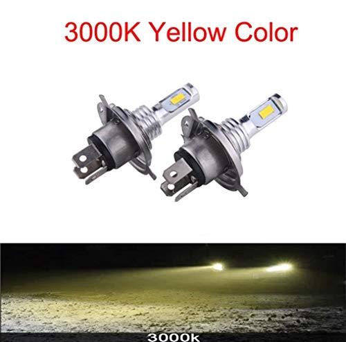 HEQIE-YONGP Luz LED para Coche LED H7 H4 880 H27 LED Cariño del Coche Bombillas Auto Lámpara Automóviles Luces CSP H1 H1 H8 HB3 HB4 Fog Luces 9005 9006 para Coche 6000K