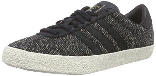adidas Originals Herren Gazelle 70s Sneakers, Grau (Core Black/Core Black/Chalk White), 40 2/3