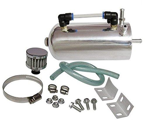 Aluminium Réservoir d'huile Catch Peut Réservoir avec Reniflard filtre à air universel