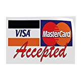 Decal Stickers Multiple Sizes Accepted ! Visa MasterCard Red Industrial Vinyl Safety Sign Label Business 7x5Inches