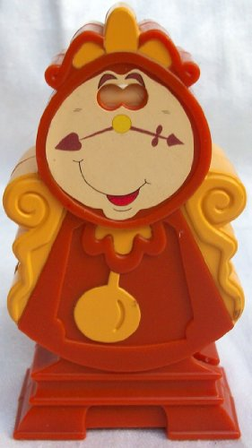 Disney Princess Beauty and the Beast, Cogsworth Mcdonalds Happy Meal Figure Dolls Toy Cake Topper Figure