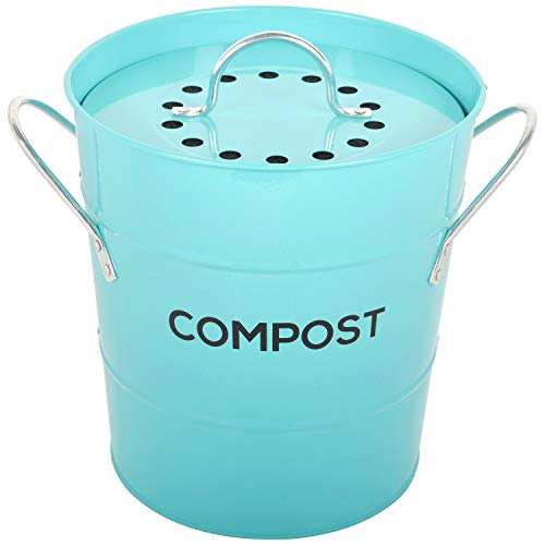Lowest Price! INDOOR KITCHEN COMPOST BIN by Spigo, Great for Food Scraps, Includes Charcoal Filter F...