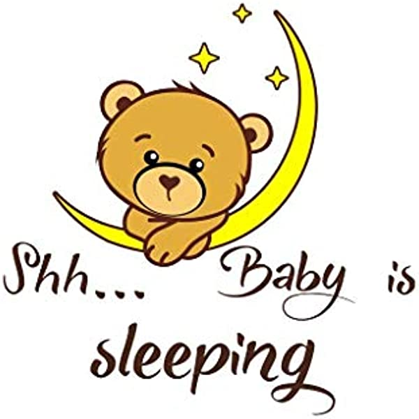 Wall Stickers Shh Baby Is Sleeping Theme DIY Family Stickers Photography Background Decorative Art Wall Mural For Home Nursery Kitchen Bedroom Decor Decals